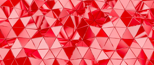 background with triangular polygons in red
