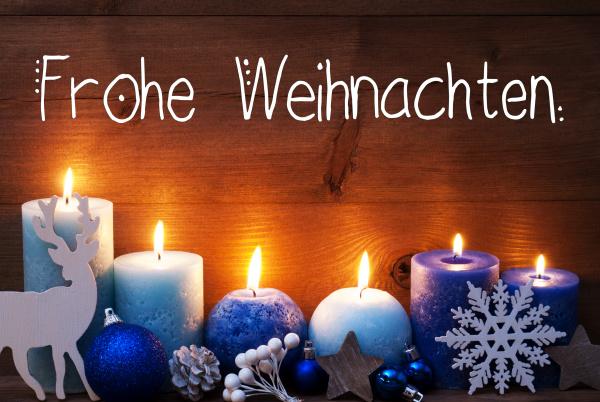 turquoise candle christmas decoration