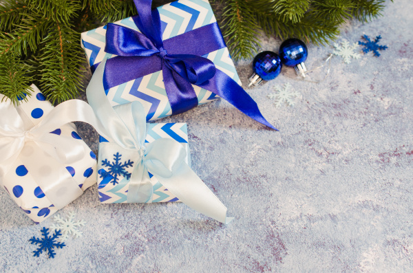 christmas background gift boxes and