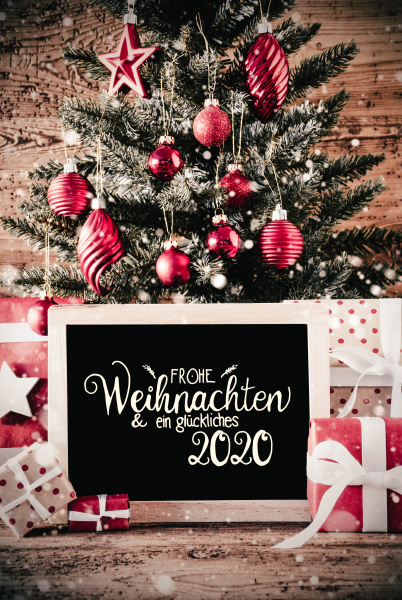 christmas tree gifts snowflakes glueckliches 2020