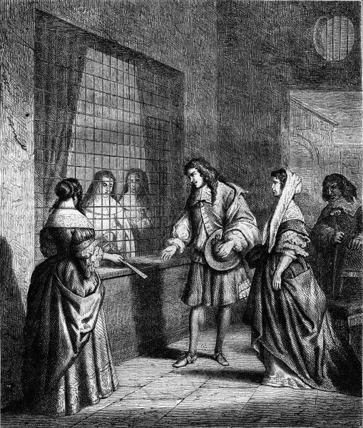 visit a convent parlor under louis