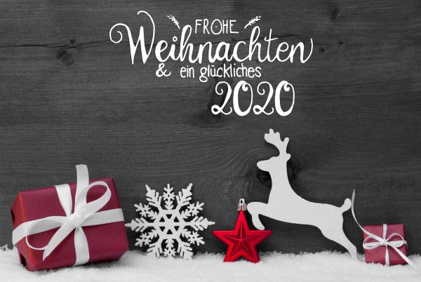gift deer snow ball glueckliches 2020