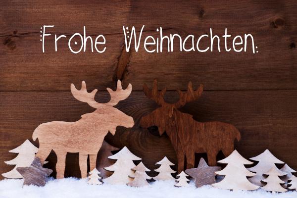 moose, , wooden, tree, , snow, , frohe, weihnachten - 27482343