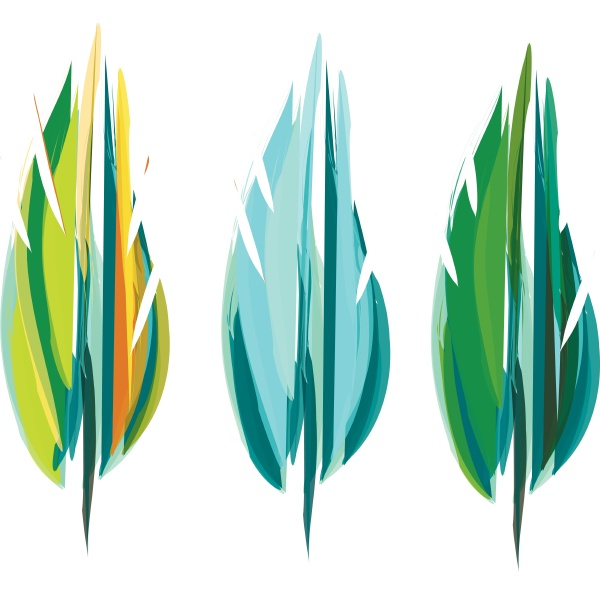 gorgeous green feather vector or color