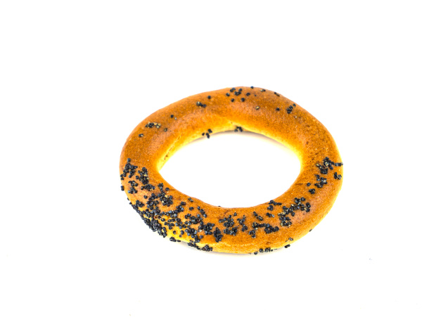 bagels with poppy seeds on a