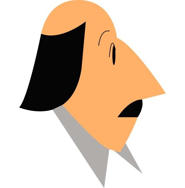 a bald man vector or color