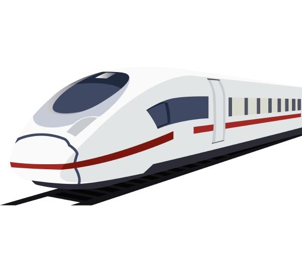 vector illustration of white metro train