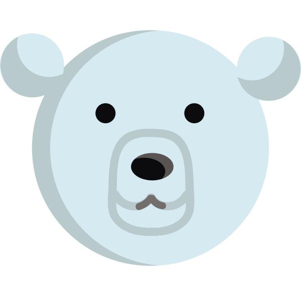 polar bear illustration vector on white