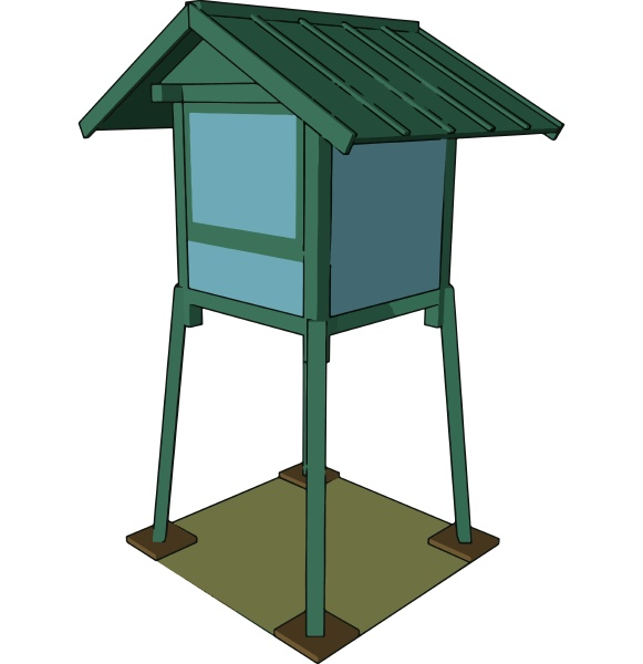 a hunting tower vector or color