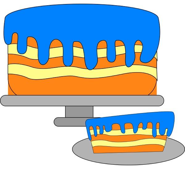 tasty blue cake illustration vector on