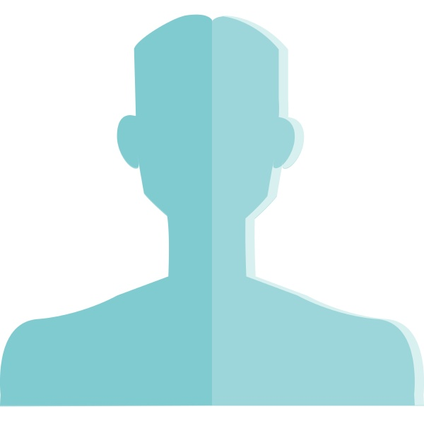 silhouette of a masculine man vector