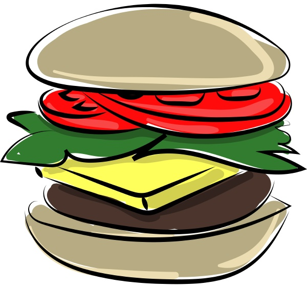 hamburger illustration vector on white background