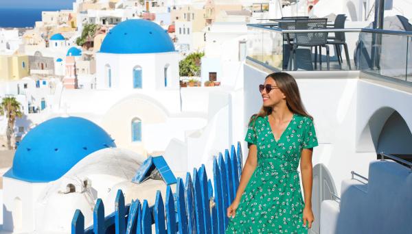 travel in europe happy cheerful girl