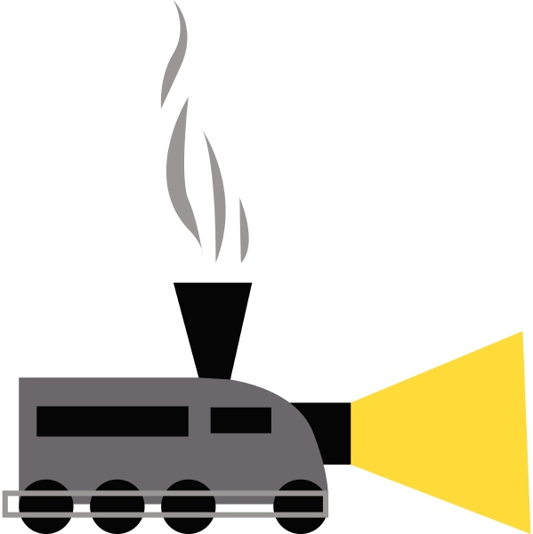a chimney train vector or color