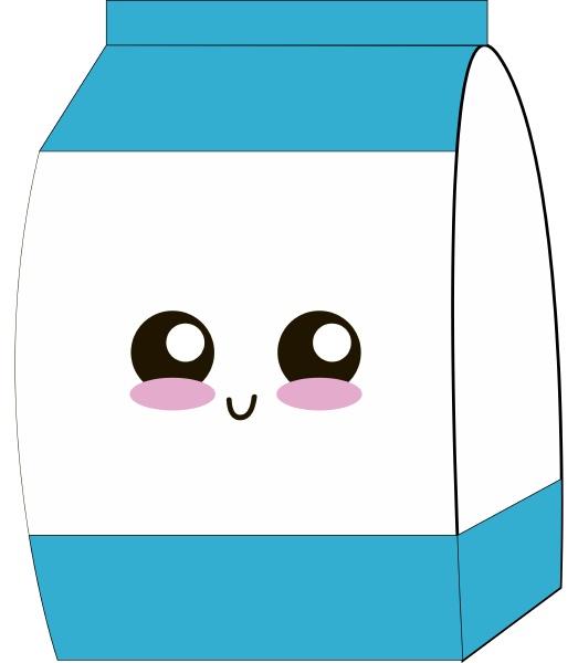 cute milk illustration vector