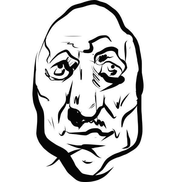 a line art portrait of a