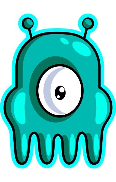 one eyed gaming monster illustration