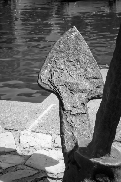detail view of an anchor