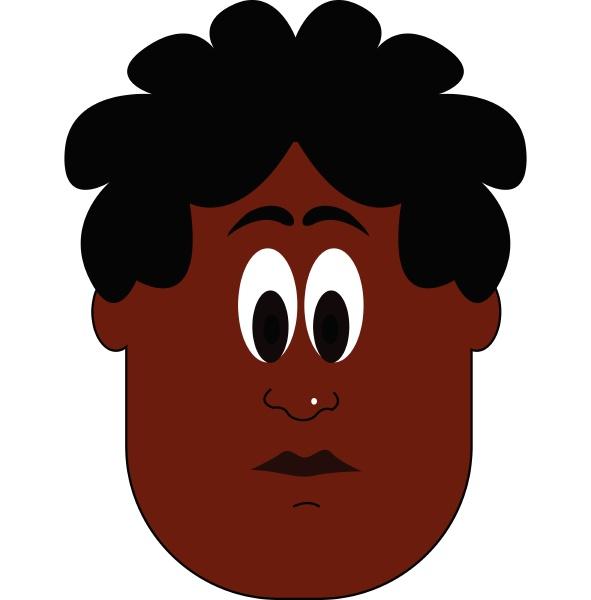 a portrait of dark boy vector
