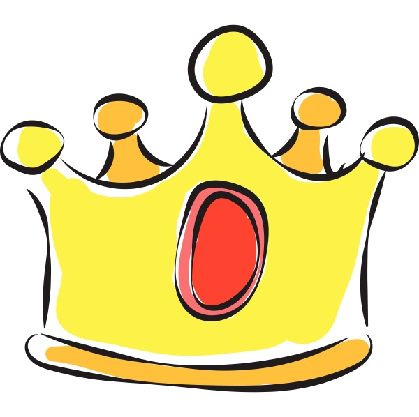 a golden crown vector or color