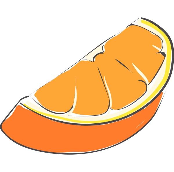 piece of orange vector or color