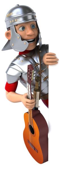 roman soldier 3d illustration