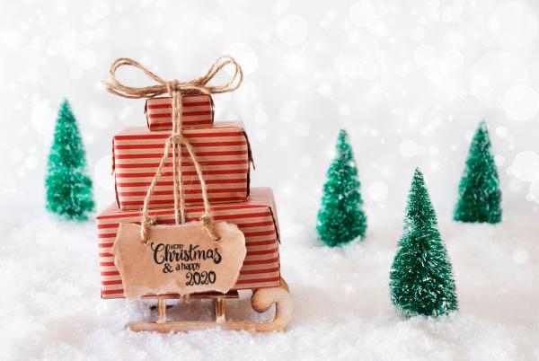 sled present snow