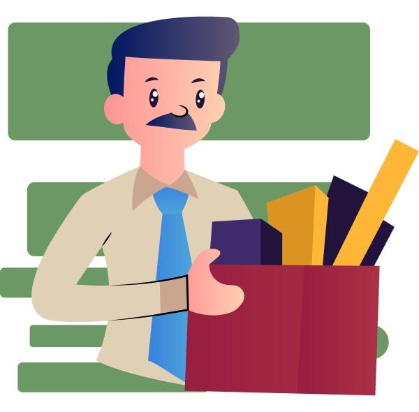 cartoon man with mustache vector illustartion