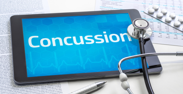 the word concussion on the display