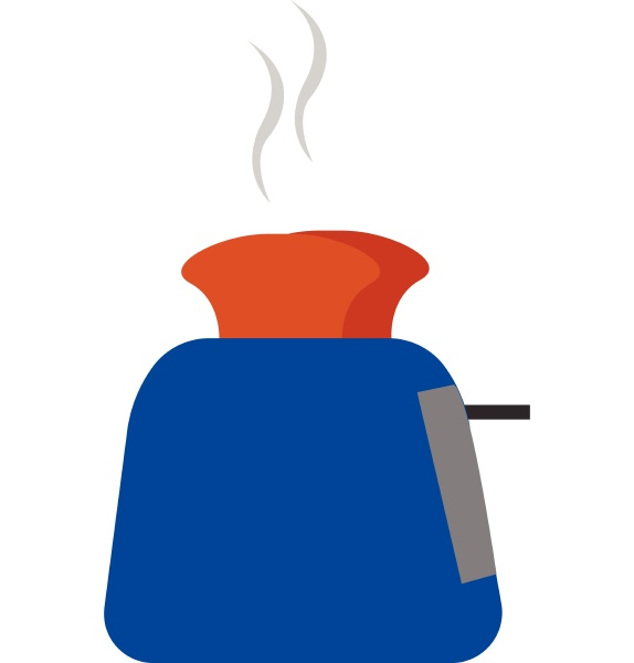 a working blue toaster vector or