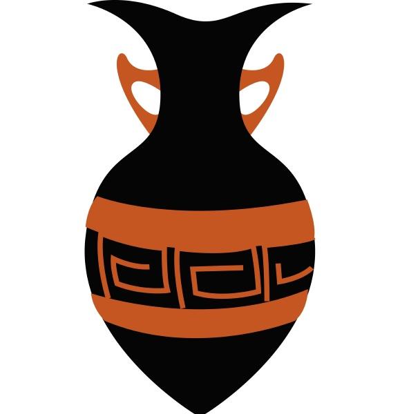 a black vase vector or