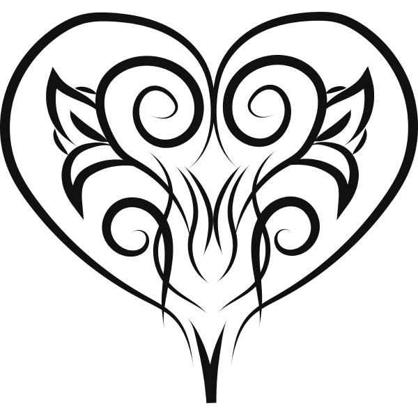 ornament heart hand drawn design illustration