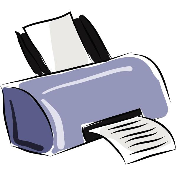 printer hand drawn design illustration vector