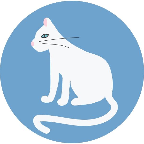 cat hand drawn design illustration vector