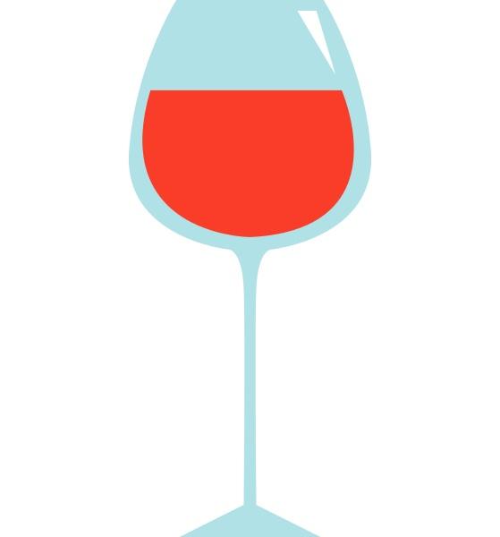 wine glass hand drawn design illustration