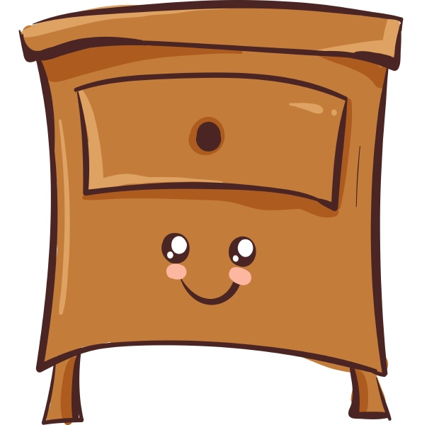 cute bedside table vector or