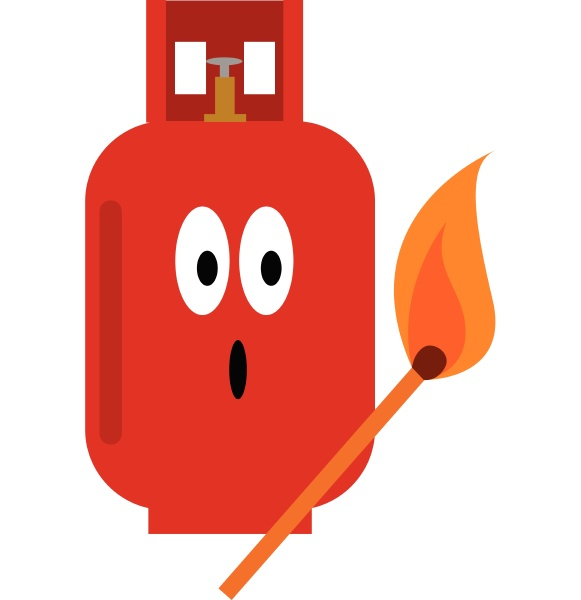 a gas cylinder vector or