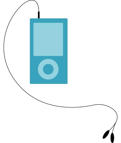 music player illustration vector on white