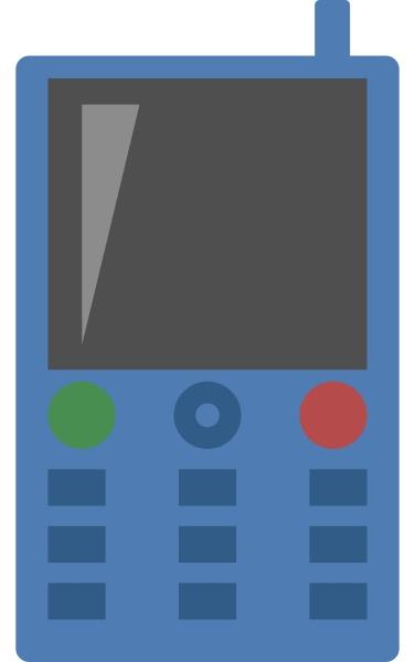 blue mobile phone illustration vector on