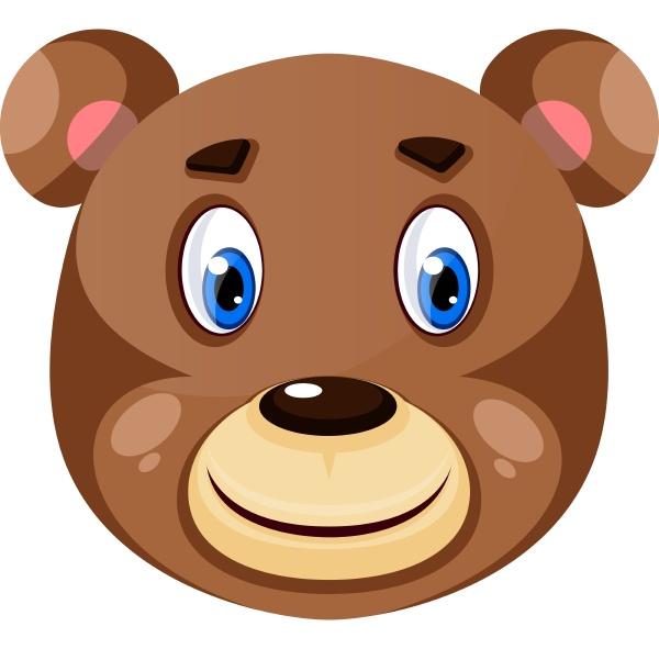 happy little bear illustration vector on