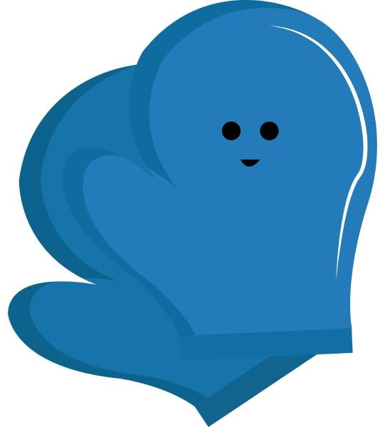 blue gloves illustration vector on white