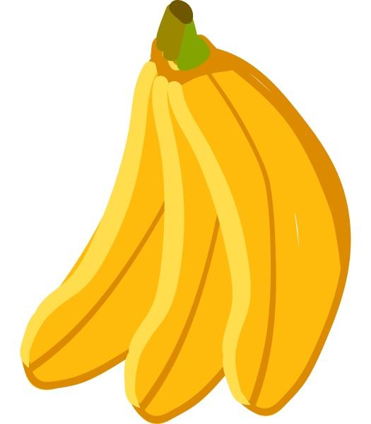 a bunch of 3 bananas vector
