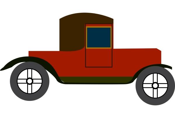 a retro car vector or color