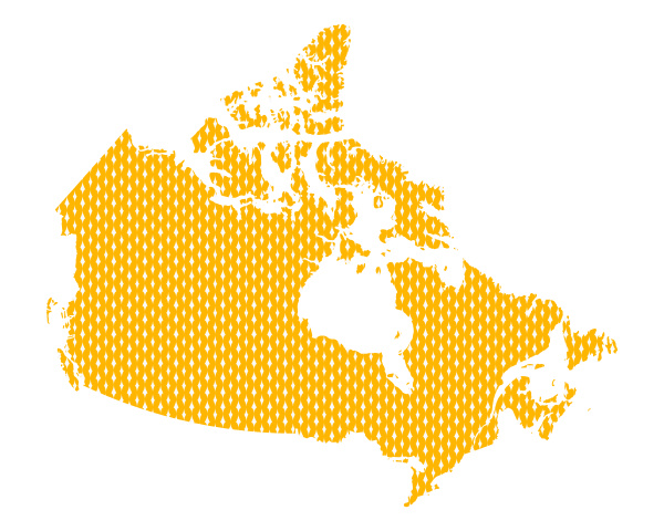 plain map of canada