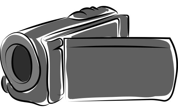 video camera drawing illustration vector on