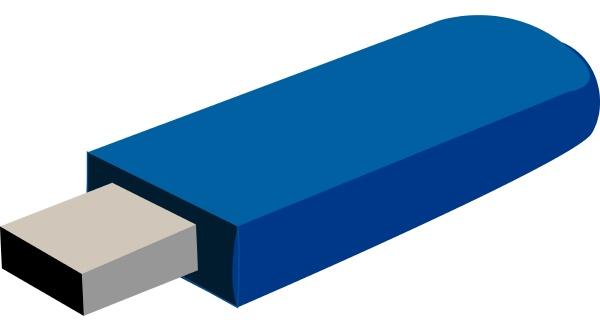 blue usb drive illustration vector on