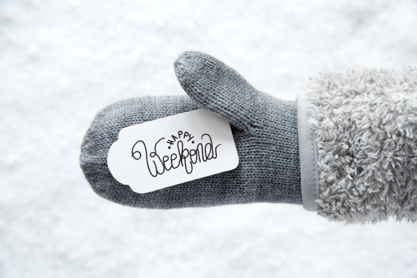 gray glove label snow