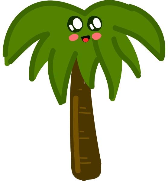 cute palm tree illustration