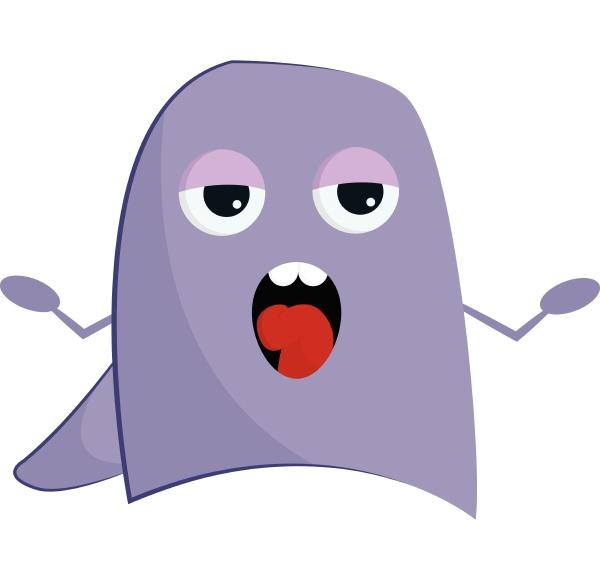purple singing monster vector or