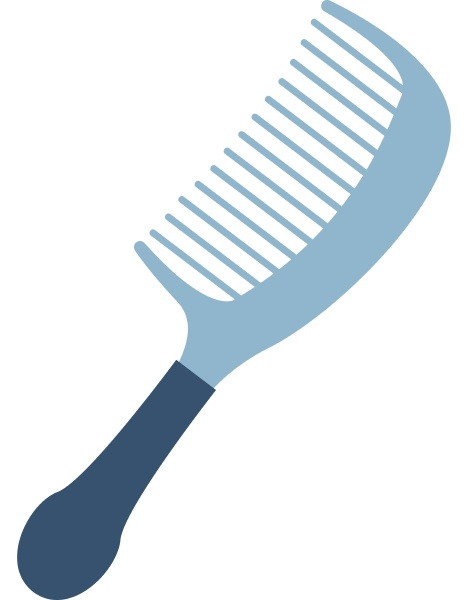 blue comb illustration vector on white